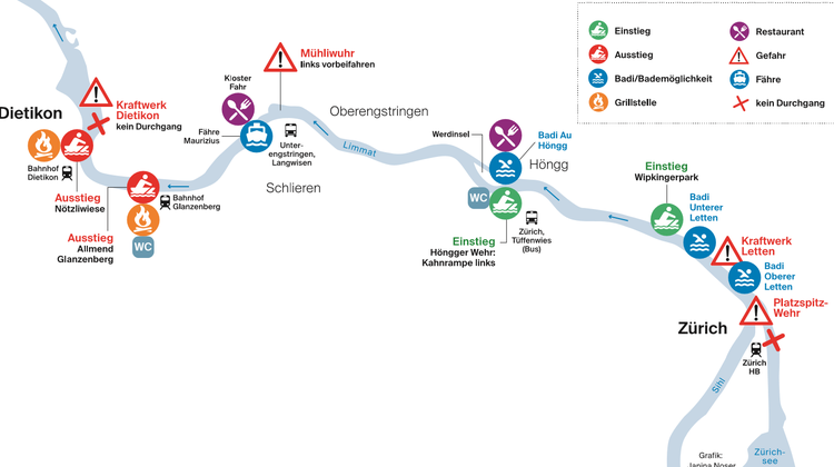 Der Gummibootführer enthält viele Tipps für Routen, Ausrüstung und Sicherheit. (Janina Noser)