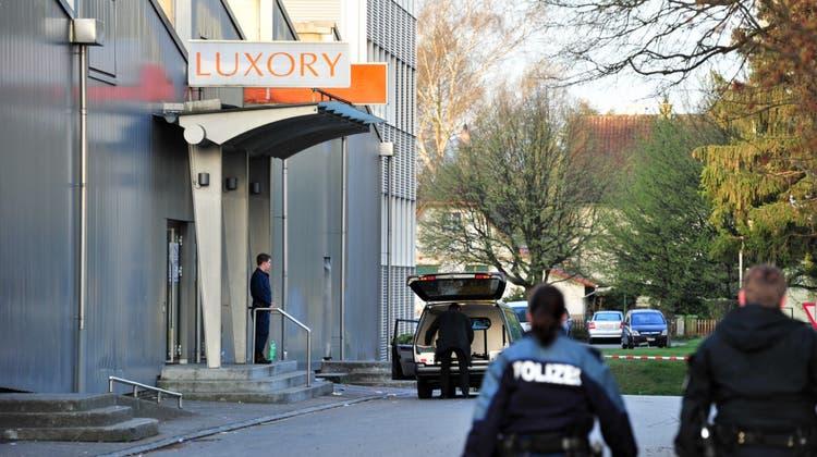 Zur tödlichen Auseinandersetzung kam es in der Nacht vom 3.April 2011 vor dem Luxory-Club. (Archiv) (Newspictures)