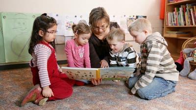 Die Förderung der Sprachentwicklung in der frühen Kindheit wird weiter vertieft. (Symbolbild: Philipp Schmidli)