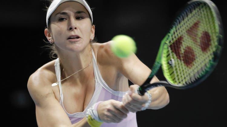 Belinda Bencic darf während den nächsten 14 Tagen das Hotelzimmer in Melbourne nicht verlassen. (Keystone)