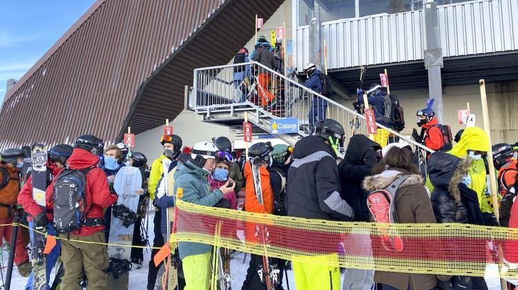 In Verbier drängten zahlreiche Wintersportler auf die Pisten. (Bild: Keystone)