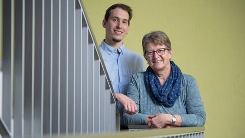Lukas Achermann zu Hause in Dagmersellen bei seiner Mutter Rita Achermann. (Bild: Pius Amrein  (Dagmersellen, 18. Januar 2021))