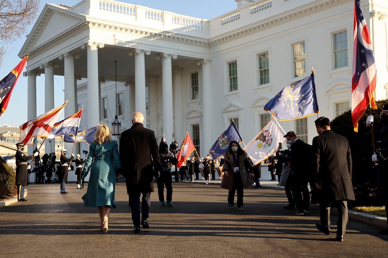 Joe Biden kommt im Weissen Haus an: Sein Wohn- und Amtssitz für die nächsten vier Jahre.