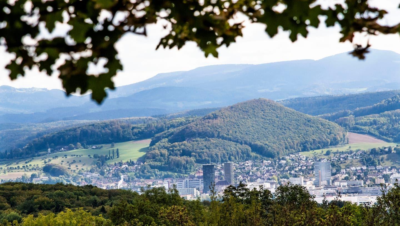 Aussicht vom der Chrischona Bettingen auf Pratteln. (Nicole Nars-Zimmer (niz) / BLZ)