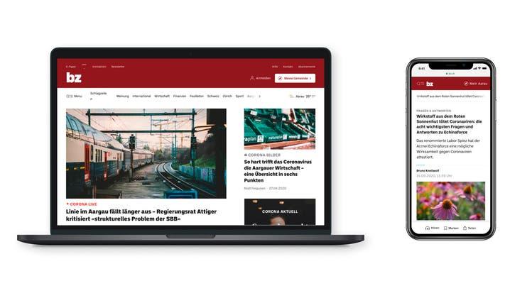 Neues Design: Desktop und Mobile. (BZ Basel)
