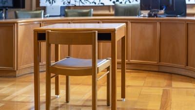 Der Gerichtssaal des Bezirksgericht Lenzburg Seetal. (Chris Iseli)