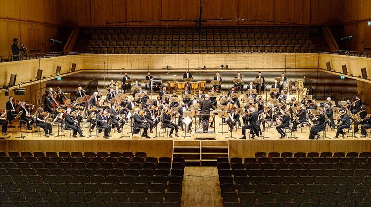Das Tonhalle-Orchester Zürich unter der Leitung von Paavo Järvi am 14. Januar 2021 in der leeren Tonhalle Maag. (Alberto Venzago)