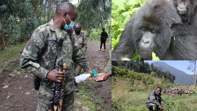 Strenge Schutzmassnahmen auch auf Ruandas Strassen. (Bilder: Win Schumacher)