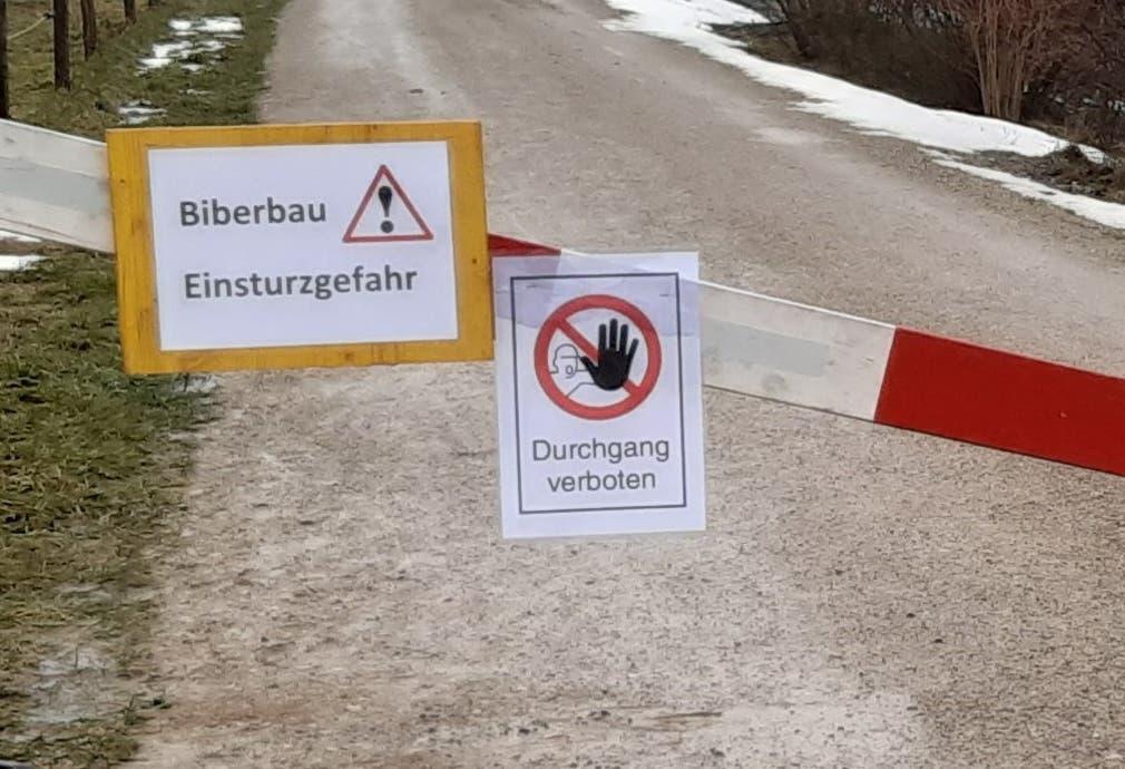 Der Unterbodenweg ist seit dieser Woche gesperrt.