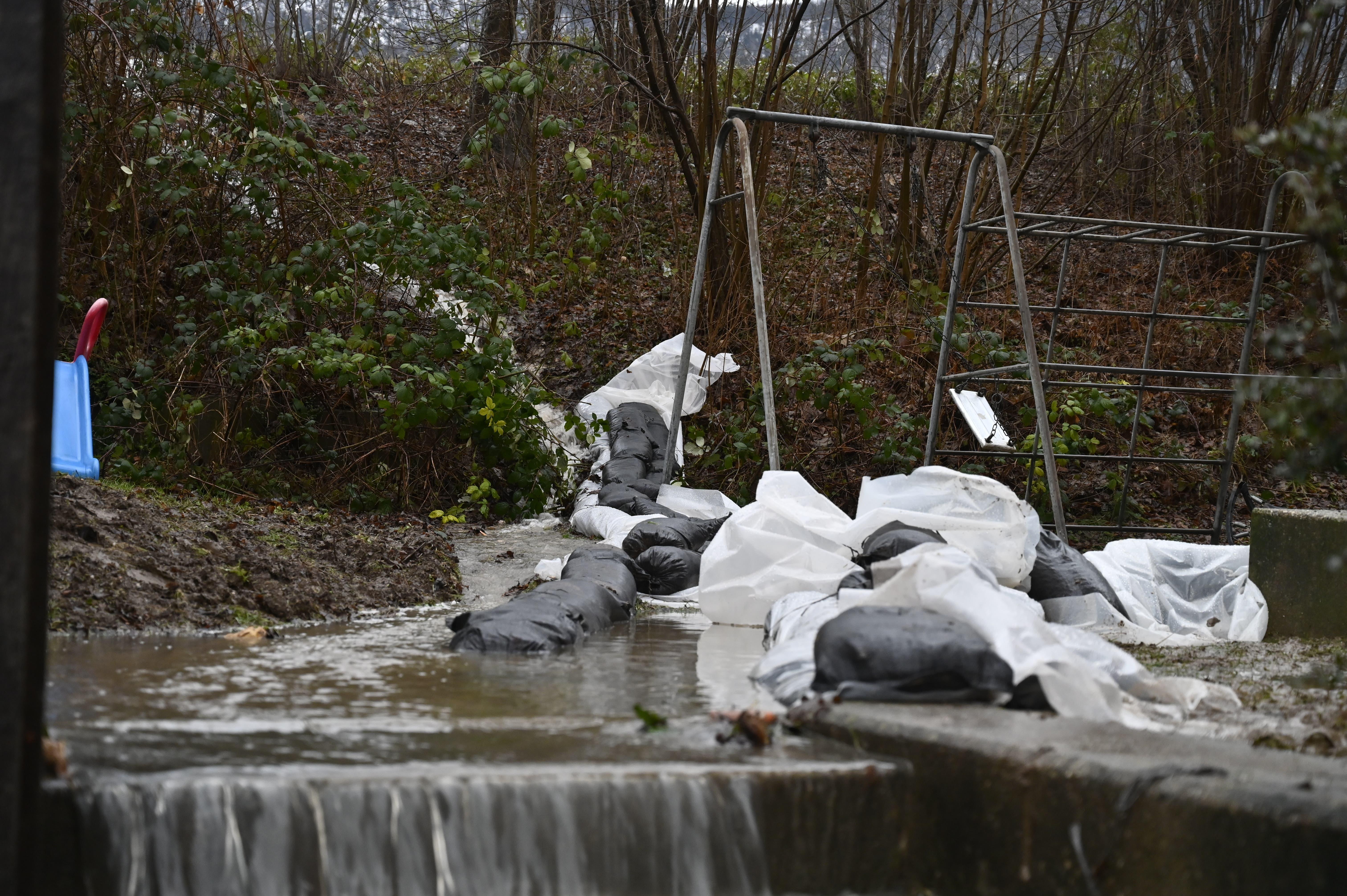 Überschwemmung im Lingeriz-Quartier in Grenchen