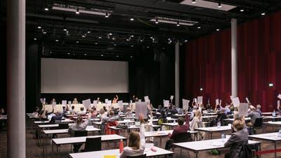 Aktuell finden die Sitzungen des Brugger Einwohnerrats im Campussaal statt. (Bild: Britta Gut (19. Juni 2020))