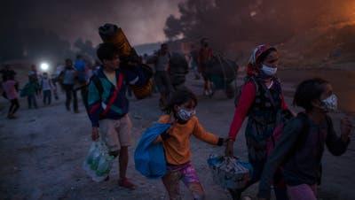 Die Zustände im Flüchtlingslager Moria auf der griechischen Insel Lesbosnimmt der Brugger Stadtrat mit Bedauern zu Kenntnis. (Bild: Keystone)
