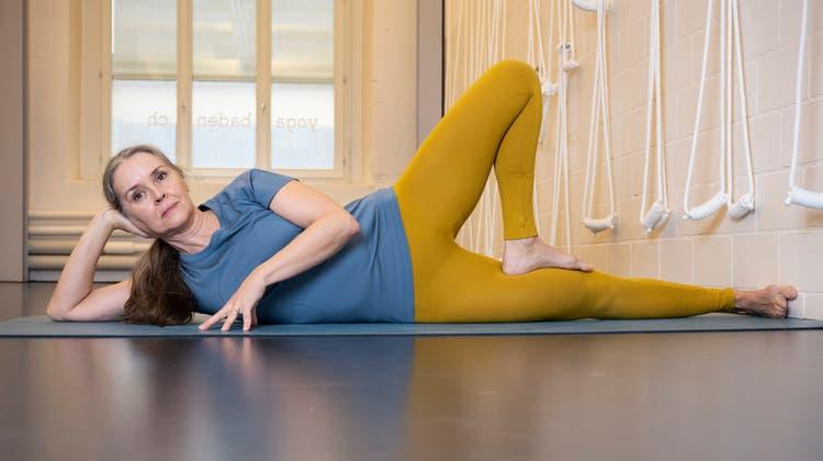 Stefanie Amrein in ihrem Yogaraum Yoga Baden: «Alles geht einmal vorbei. Das Schöne ebenso wie das Schlechte.» (Alex Spichale / BAD)