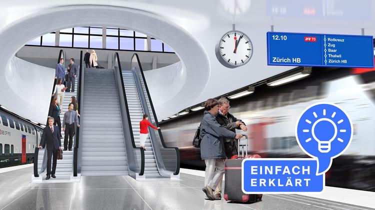 So könnte der Tiefbahnhof aussehen. (Visualisierung: Kanton Luzern)