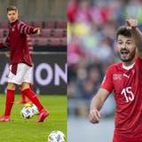 Cedric Itten (links) und Albian Ajetisollen für die Schweiz die Tore schiessen. (Keystone)