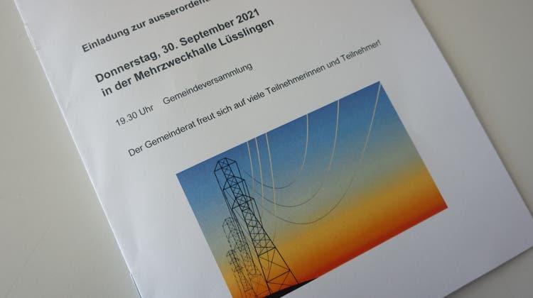 Einladungsbroschüre zur ausserordentlichen Gemeindeversammlung Lüsslingen-Nennigkofen. (Urs Byland)