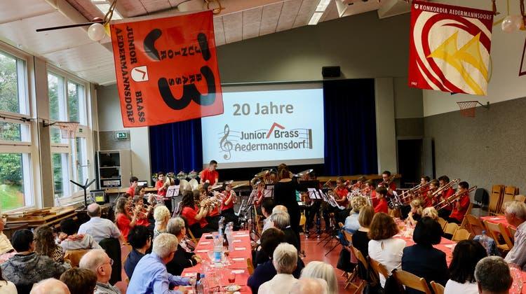 Am vergangenen Wochenende fand das Jubiläumskonzert der Junior Brass in Aedermannsdorf statt. (zvg)