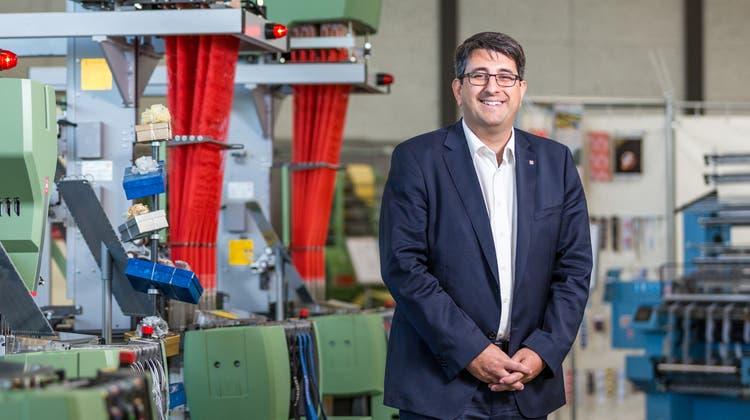 Robert Reimann, CEO der Jakob Müller Group, freut sich über eine positive Geschäftsentwicklung seit Anfang des Jahres. (Bild: Sandra Ardizzone (24. Oktober 2017))