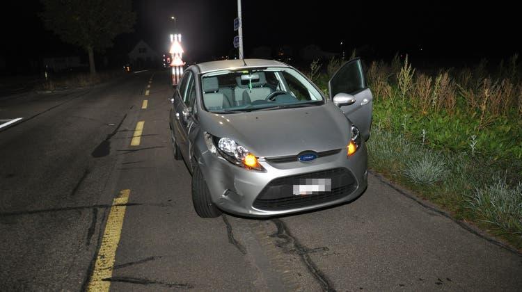 In Obergerlafingen kam es zu einem Zusammenstoss zwischen einem Auto und einem Töffli. (zvg / Kantonspolizei Solothurn)