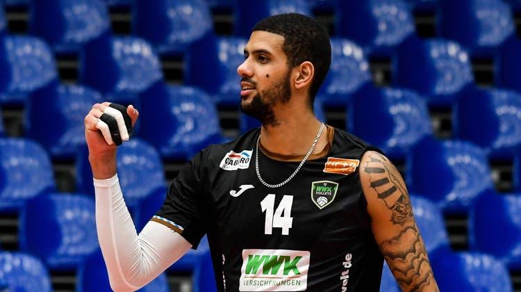 Vor seinem Wechsel zu Volley Schönenwerd spielte Diagonalangreifer Jalen Penrose zwei Jahre in der deutschen Bundesliga. (Imago-Images)