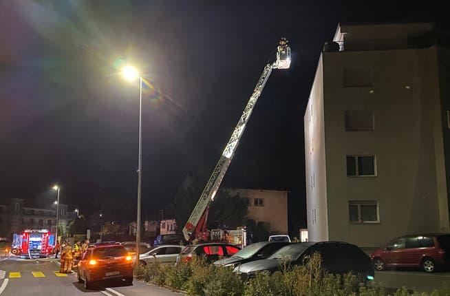Feuerwehreinsatz in Horn.
