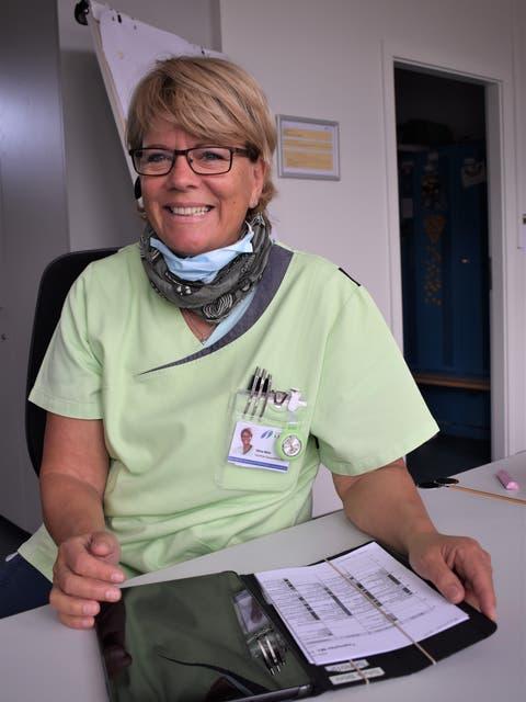 Im Rapport hält Silvia Böni den Gesundheitszustand des Kunden fest.