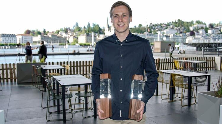 Remo Handl, PräsidentSquash Club Pilatus Kriens mit gleich zwei Auszeichnungen. (Martin Meienberger/meienberger-photo)