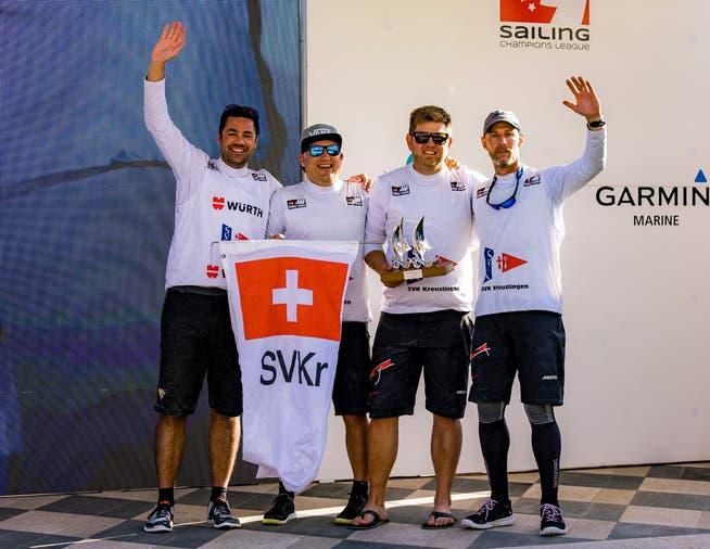SV Kreuzlingen freuen sich über den zweiten Platz.