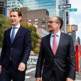Der alte und der neue Kanzler: Sebastian Kurz und Alexander Schallenberg nahmen im September an der UNO-Vollversammlung in New York teil. (Keystone)