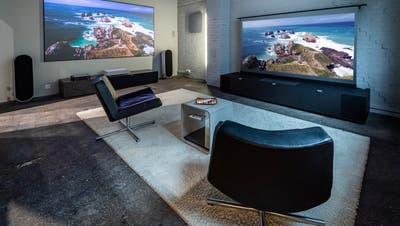 Ab sofort können Interessierte im neu gebauten Home-Cinema-Showroom die neuesten Home-Cinema-Systeme testen. (Bilder: Reto Martin)