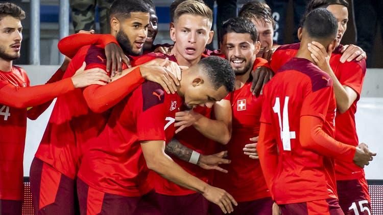 Die U21-Nationalmannschaft feiert in Sofia einen wichtigen Auswärtssieg. (Archiv) (Keystone)