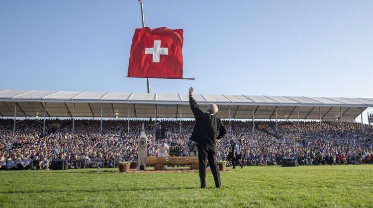 An denEidgenössischen Schwing- und Älplerfesten, hier dem in Zug 2019, wird vor allem Schweizer Kulturgut gepflegt. (Urs Flueeler)