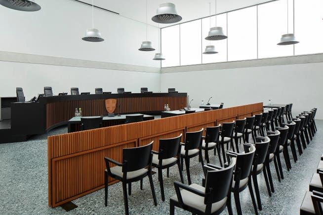 Der Rechtsstreit beschäftigt derzeit das Bundesverwaltungsgericht in St. Gallen: Blick in den Gerichtssaal.