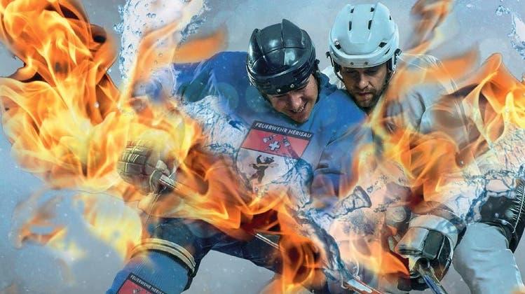 Am Samstag wagen sich die feuererprobten Männer auf das Eis des Sportzentrums in Herisau. (Bild: pd)