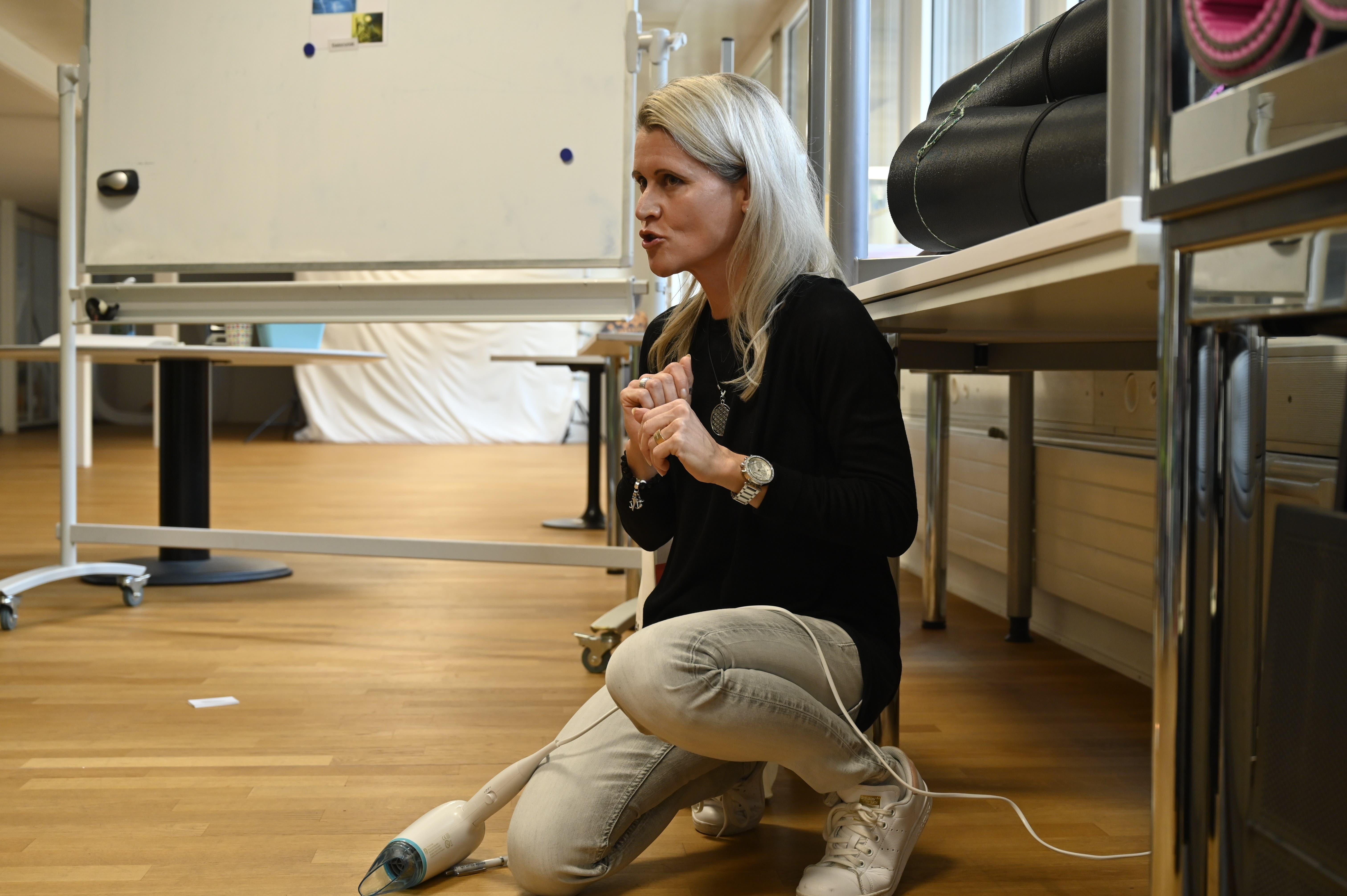 Kursleiterin Nicole Blum.