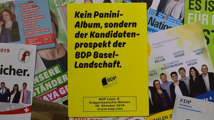 Bei den eidgenössischen Wahlen im Oktober 2019 war die Baselbieter BDP noch optimistisch. (Benjamin Wieland)