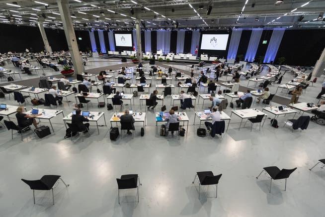 Die Sommersession 2020 fand in den trostlosen Hallen der Bern Expo statt.