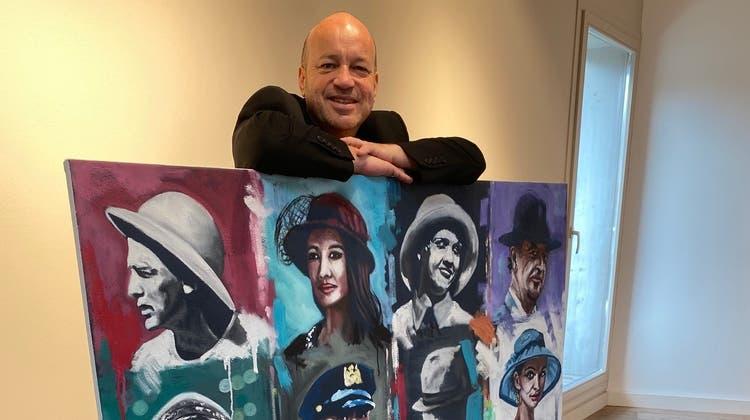 "Thomas Droll mit ""hats"". (zvg)"