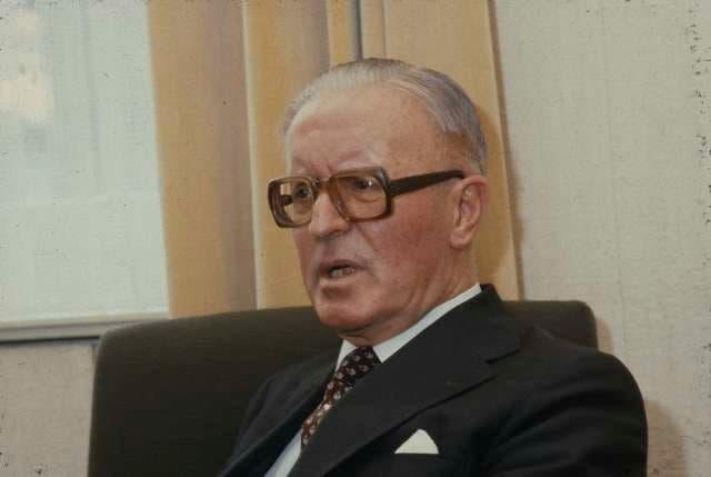 Alfred Schaefer 1982, vier Jahre vor seinem Tod.