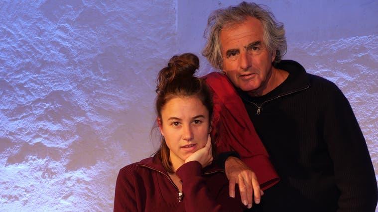 Kaspar und Mia Lüscher, Vater und Tochter, stehen erstmals gemeinsam auf der Bühne. (Hans Christof Wagner (Frick, 13. Oktober 2021))