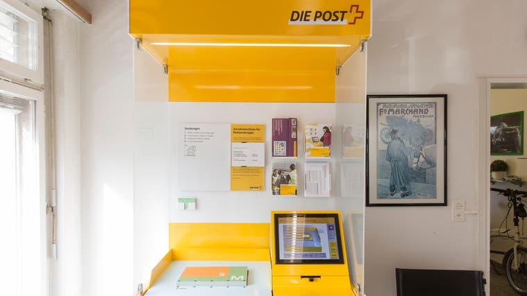 Verschwindet bald: das Postmodul bei der Miet and Drive AG an der Brunaustrasse 3 in der Weininger Fahrweid. (Severin Bigler)