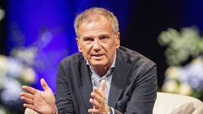 Armin Wolf vom ORF beim Swiss Media Forum vom Donnerstag, 23. September 2021 im KKL in Luzern. (Urs Flueeler / KEYSTONE)
