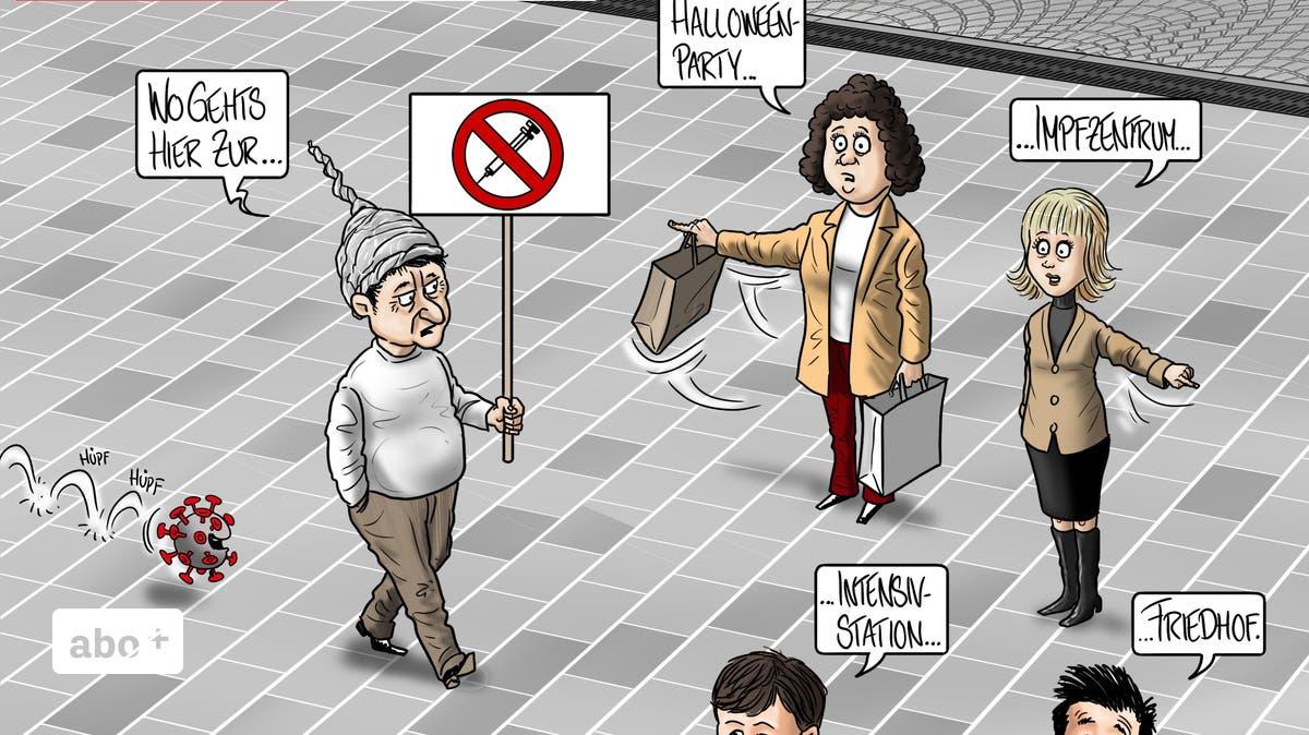 Die-neue-Karikatur-der-Woche-In-Baden-findet-am-Samstag-eine-Demonstration-gegen-Corona-Massnahmen-statt