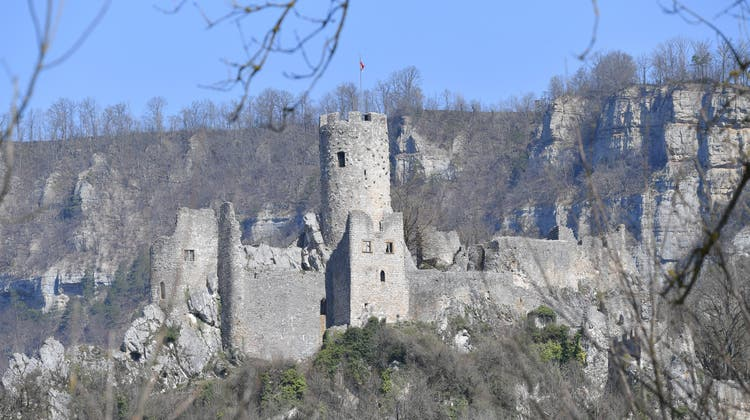 Ruine Schloss Neu-Falkenstein in Balsthal. (Bruno Kissling)