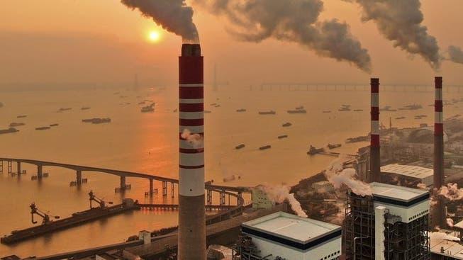 Una centrale elettrica a carbone a Nantong, provincia di Jiangsu.