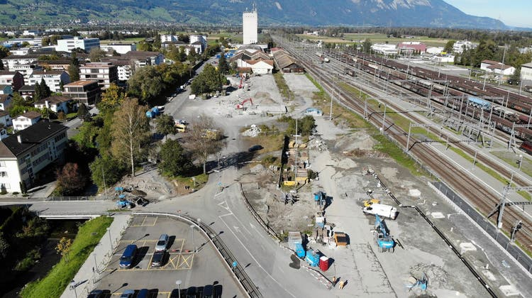 Ein Theaterplatz – ohne Theater: Was auf dem Güterbahnareal in Buchs angedacht ist und was jetzt bereits gebaut wird