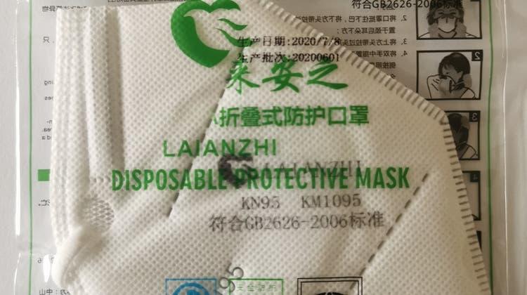 Die betroffene Maske wurde mit der Bezeichnung«Laianzhi KN95» vom Typ KM1095 verkauft. (HO)