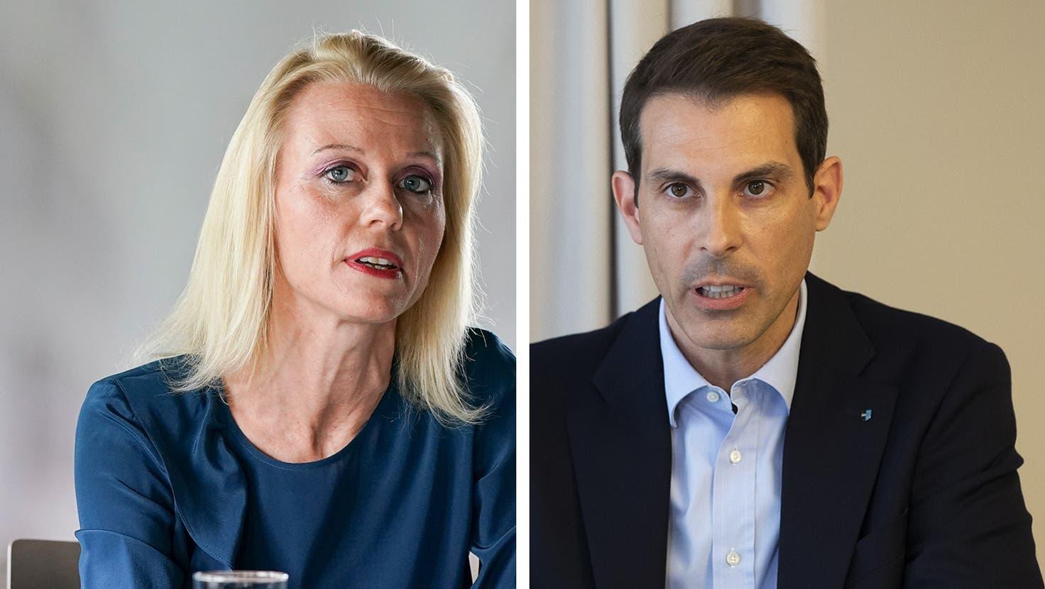 An der Pressekonferenz vom 27.05.21 geben Kantonsärztin Yvonne Hummel sowie die  Regierungsräte ean-Pierre Gallati (DGS) und Alex Hürzeler (BKS) Auskunft über die Umsetzung des Kanton Aargaus der neuen Bundesratsbeschlüsse zur Bekämpfung der Coronapandemie. Aufgenommen am 26.05.2021 (Britta Gut)