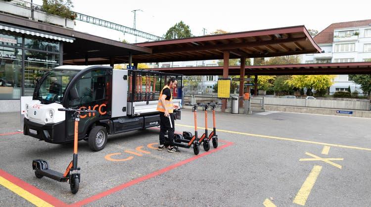 Am meisten Verbreitung finden E-Scooter in urbanen Zentren wie hier in Zürich. (Keystone)