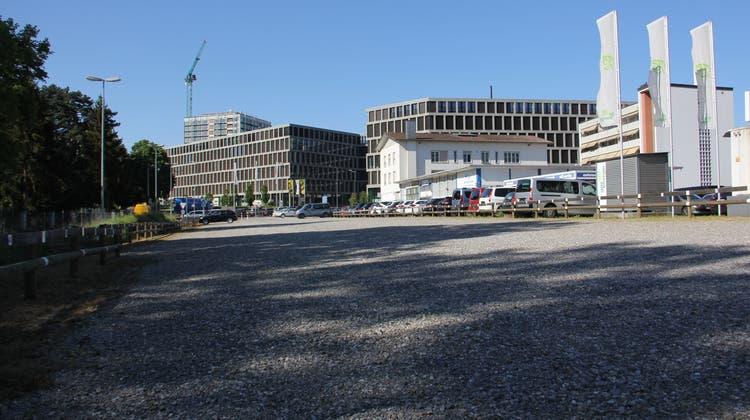 Auf diesem Bachthalen-Areal in Windisch neben dem Fachochschul-Campus könnte die neue Kantonsschule entstehen. (Claudia Meier (27. Mai 2020))